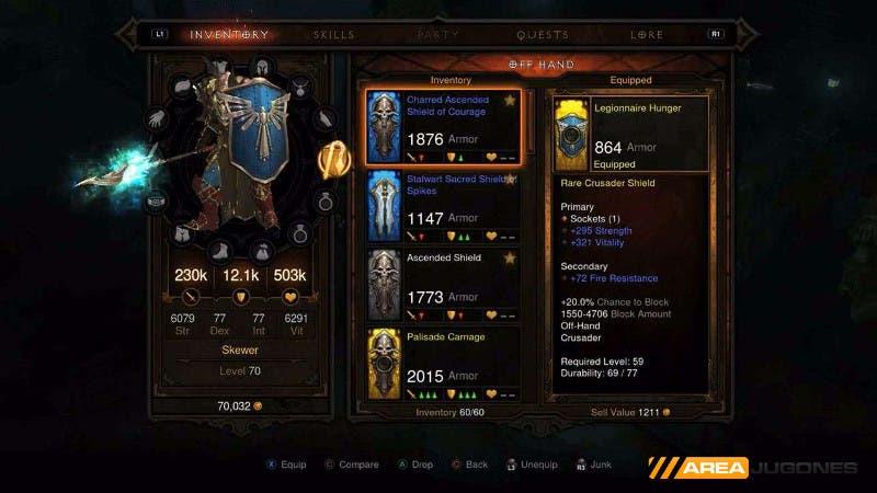 El cruzado es uno de los personajes más equilibrados y que más daño hacen a enemigos múltiples.