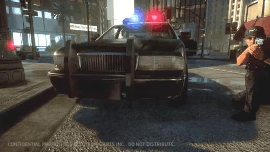 A este iluso policía, que se cree que va a parar a alguien con una cutre pistola, lo matará un atracador al 0% de vida.