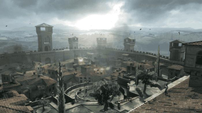 Un campo de entrenamiento como el de Monterigionni sería digno de ver en Assassin's Creed Unity.