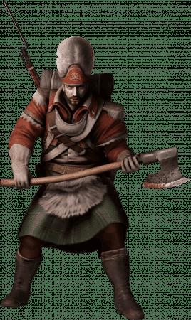 En Assassin's Creed III y Black Flag sólo hay un skin para los granaderos.