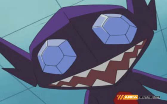 Sableye feliz por su Mega-Evolución.
