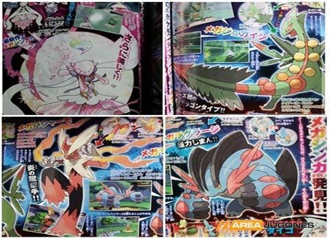 Imagen de las tres nuevas Mega Evoluciones mostradas.