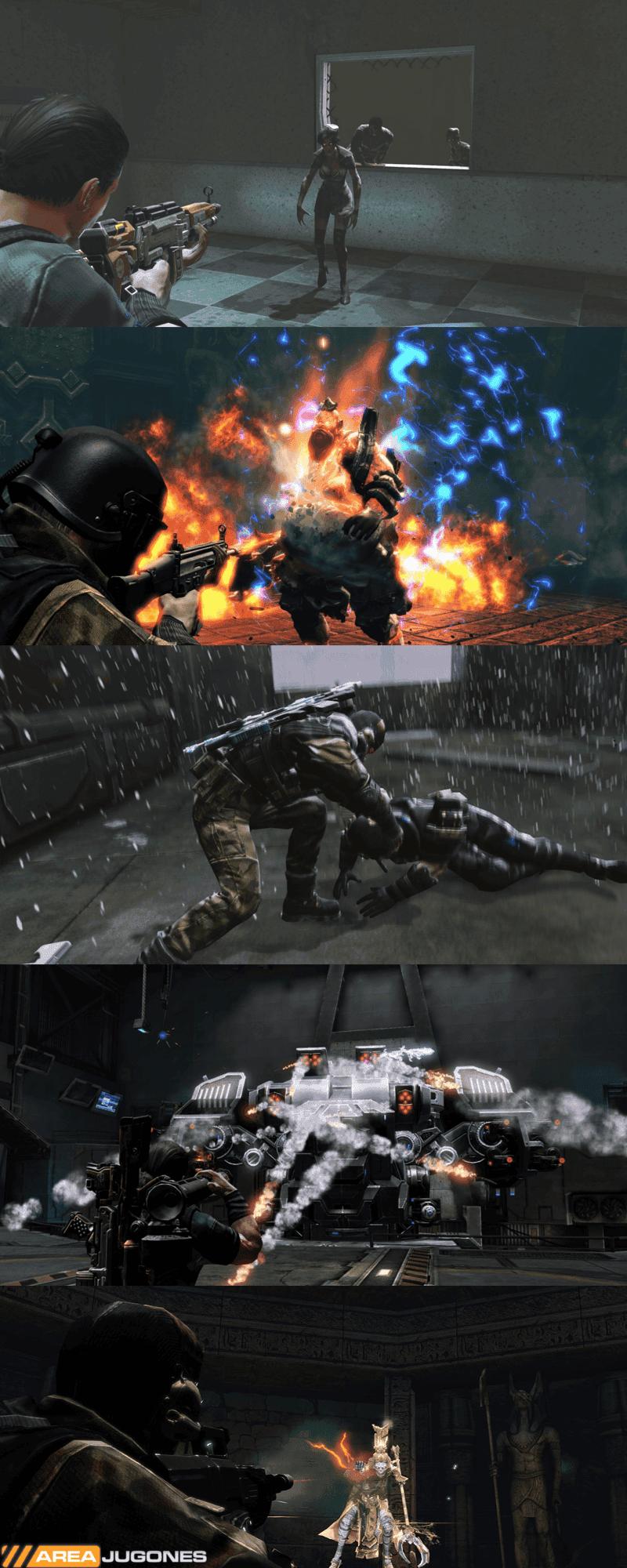 ¿Contra quién quieres luchar hoy? Zombies, monstruos, criaturas místicas, robots, soldados... la diversidad de enemigos en Hazard Ops es muy grande.