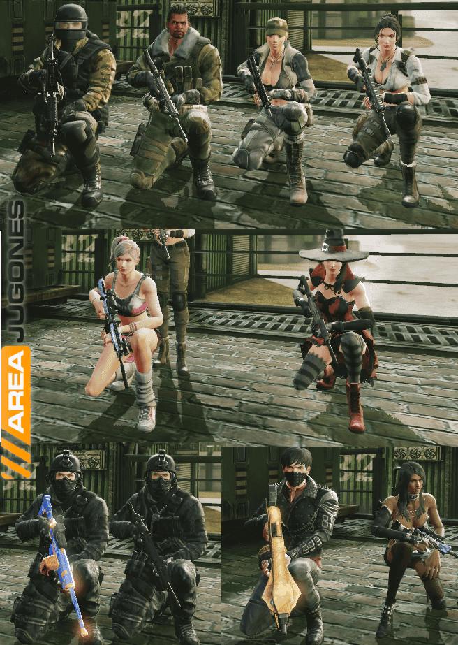 El juego tiene una amplia variedad de armas, y también apariencias; aunque hay vestimentas realistas, hay otras demasiado exhibicionistas y muy poco realistas.