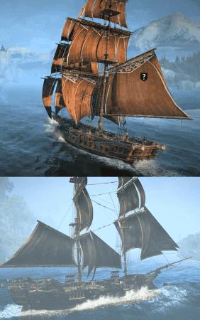 Comparativa exterior entre el Morrigan (arriba) y el Jackdaw (abajo).