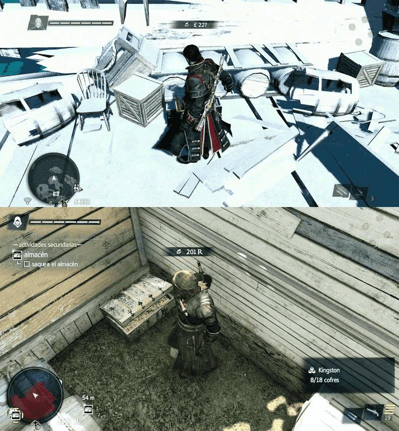 Nótese cómo la interfaz de AC4 y Rogue es la misma.
