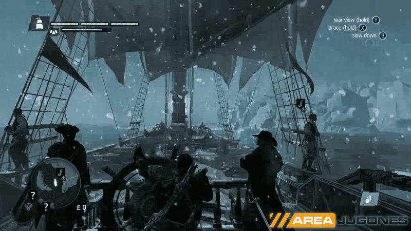 Una ventisca, clima extremo común en la zona ártica del juego.
