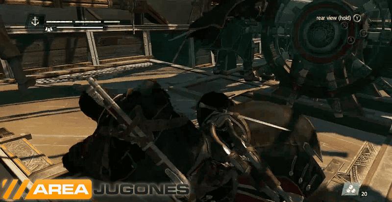 Cuando un bergantín Asesino nos embiste, es momento de coger las armas y defender el Morrigan.