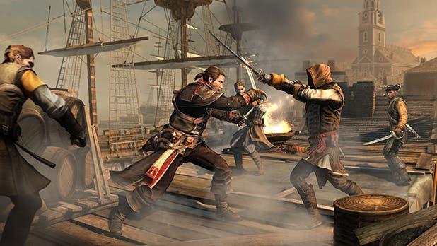 Según esta imagen, podemos ver que Shay llevará pistolas (al menos 2), y los combates con armas blancas los efectuará con una espada y un cuchillo, al igual que Connor.