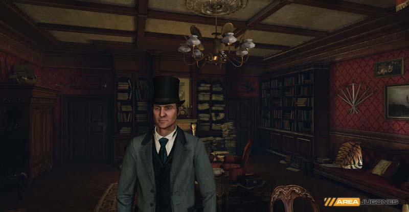 Parte del despacho de Sherlock.