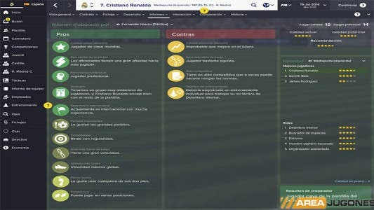 Football Manager 2015: Pros y contras