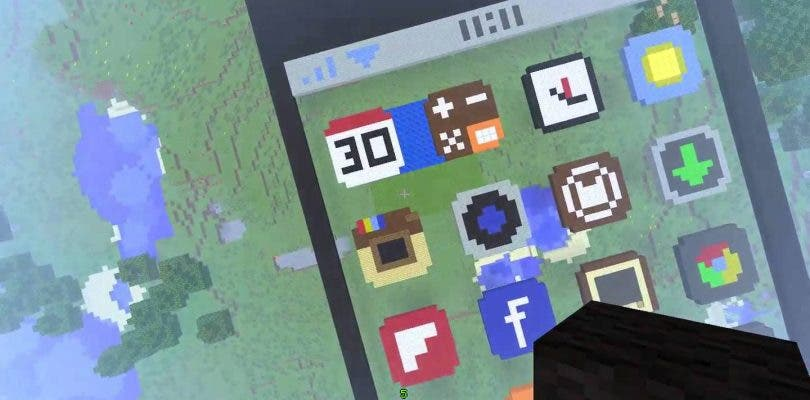 Consiguen hacer funcionar un iPhone en Minecraft