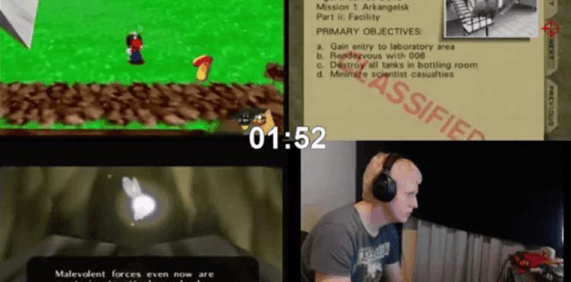 Un usuario completa Mario 64, Goldeneye y Ocarina of time en una hora