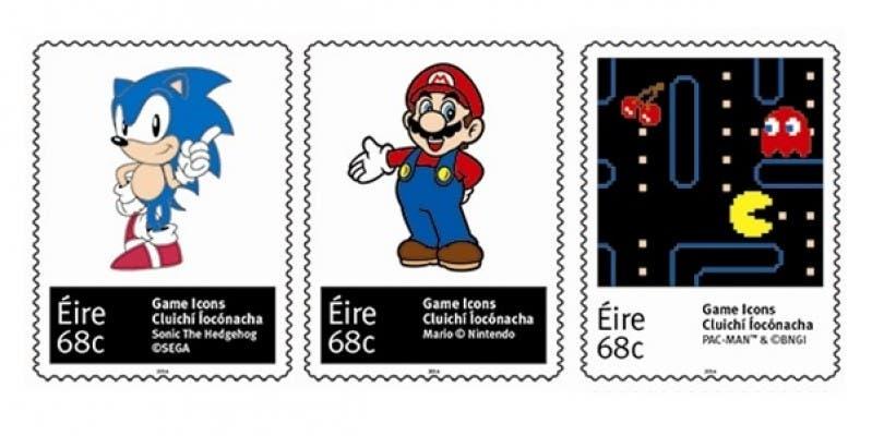 Irlanda introduce sellos de videojuegos en su servicio postal