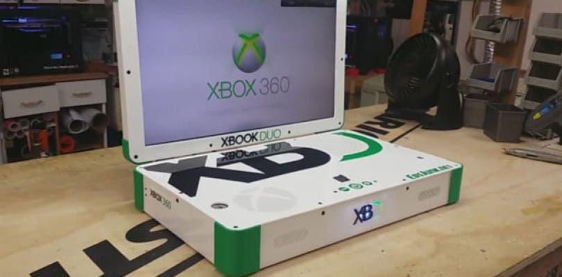 Así es el portátil Xboox Duo, que combina una Xbox 360 y una Xbox One