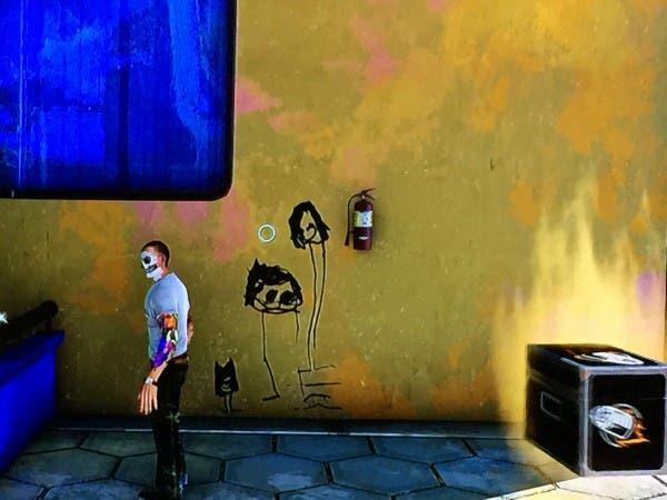 Este es uno de los dibujos que encontramos en el juego