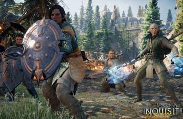 Se muestran dos personajes principales de Dragon Age: Inquisition