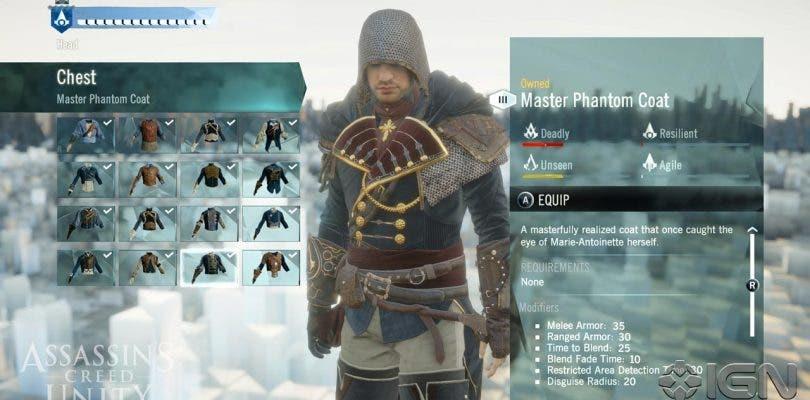Echa un vistazo a la personalización de Assassin's Creed: Unity