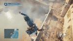 Arno, tras saltar de forma muy aleatoria desde un edificio, segundos antes de entrar en desincronización, gracias a un bug en el sistema de parkour.