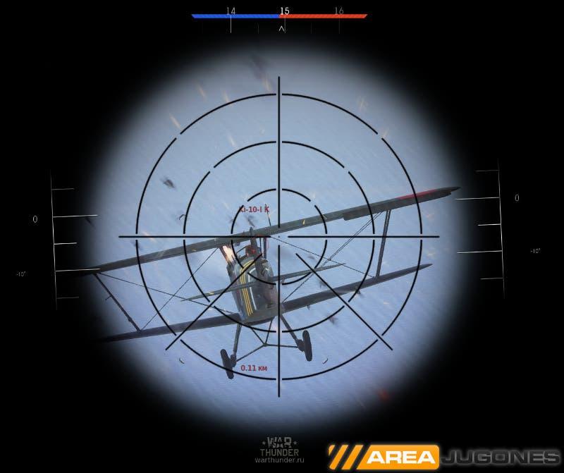 War Thunder Mira Telescópica -Areajugones