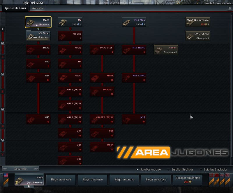Nuevos tanques americanos disponibles con la actualización Steel Generals de War Thunder.