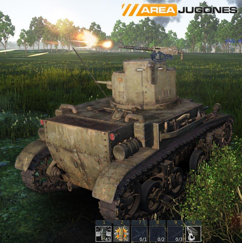 Los tanques con ametralladoras superiores pueden hacer ya uso de estas armas. El punto negativo lo encontramos en que se disparan mágicamente sin que nadie a la vista las controle.
