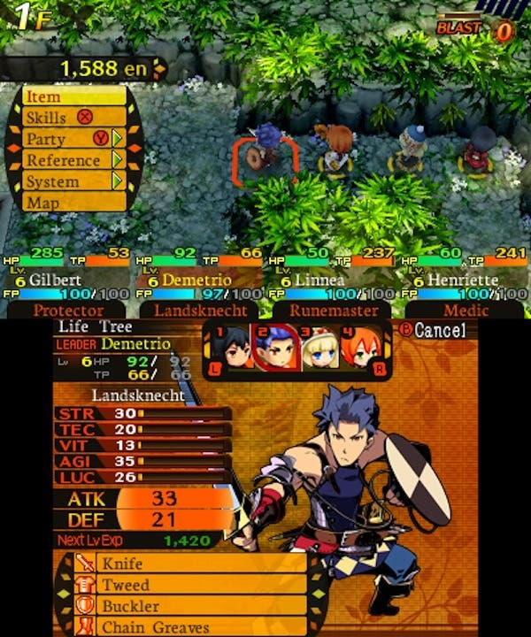 Etrian Mystery Dungeon Nintendo 3DS Análisis Review 7
