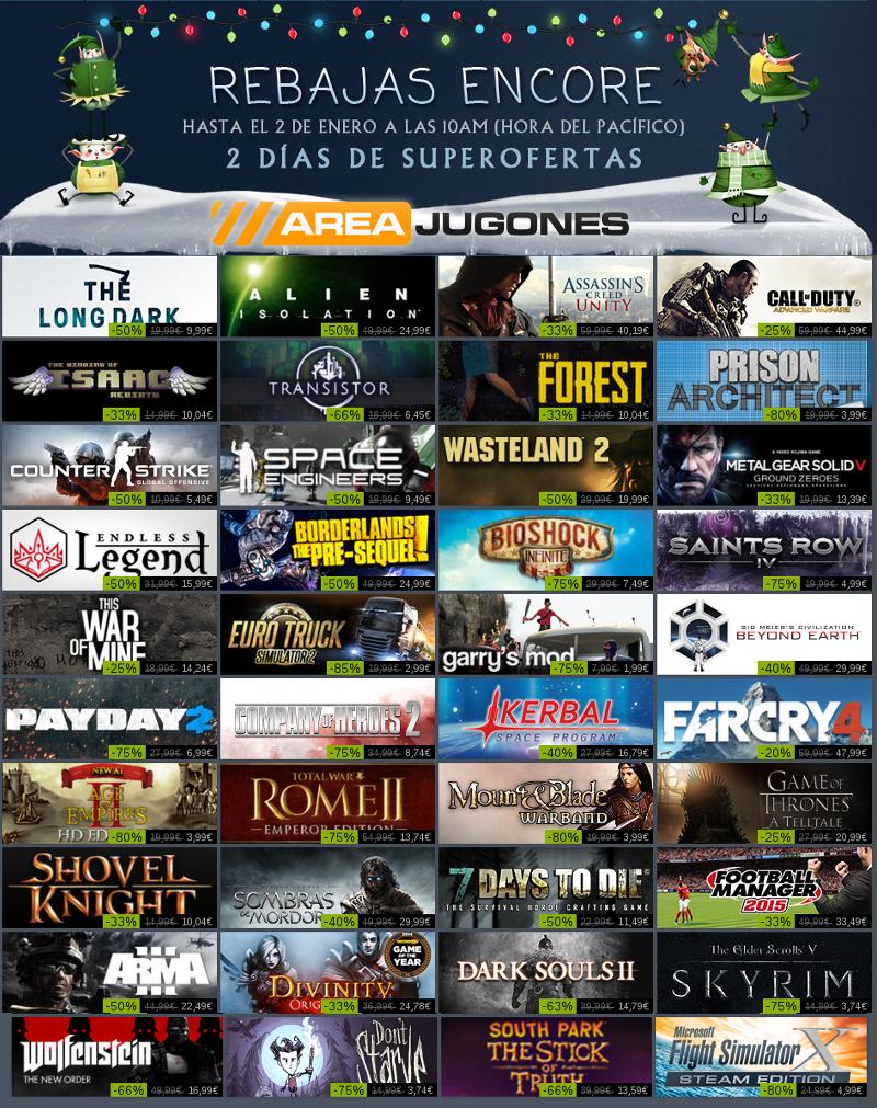 Steam Rebajas Encore finalizacion navidad 2014-1025 -Areajugones