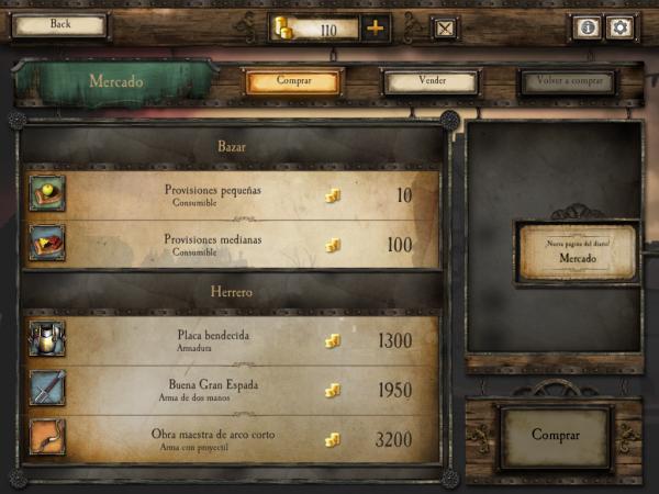En Warhammer Quest hay tiendas donde comprar y vender objetos.