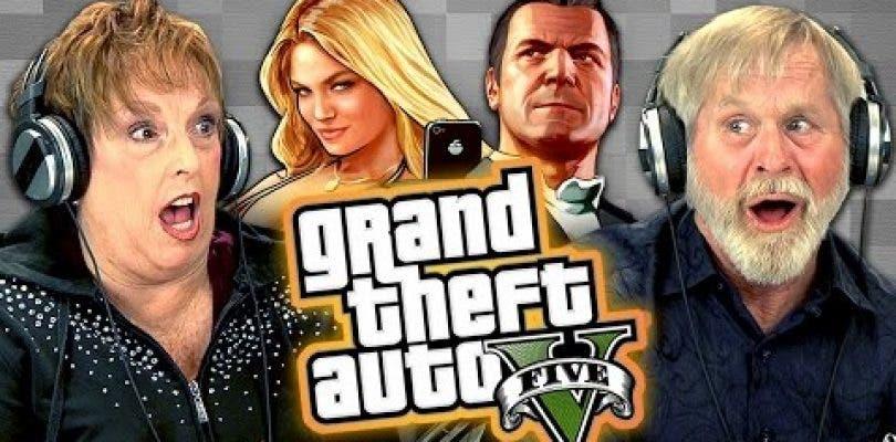 Esta es la reacción de ancianos al jugar a Grand Theft Auto V