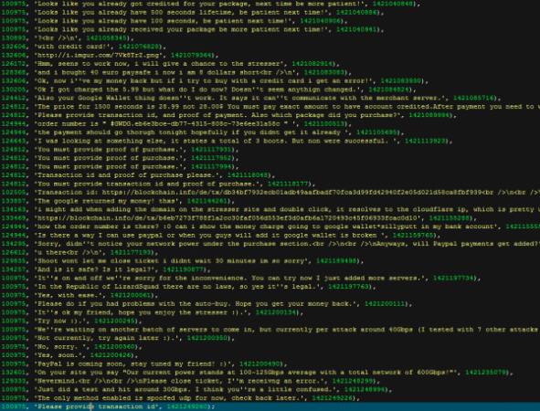 Una de las ciento de páginas hackeadas de la web de Lizard Squad