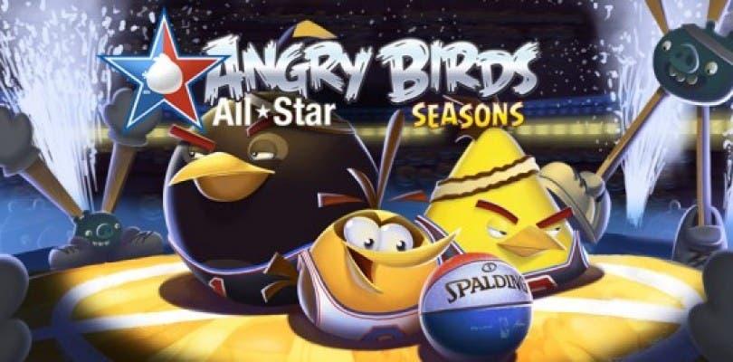 """Enfréntate con Larry Bird y con la NBA en el modo """"Ham Dunk"""" All-Star de Angry Birds Seasons"""
