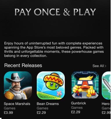Presentación de la nueva sección en la App Store.