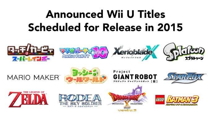 Lanzamientos WiiU