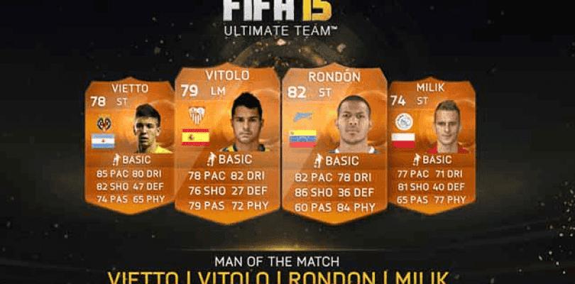Nuevos MOTM para FIFA 15 Ultimate Team