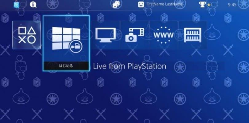Sony ofrece gratis en Japón un tema de PlayStation 4 para los poseedores de Type-0 y Dragon Quest
