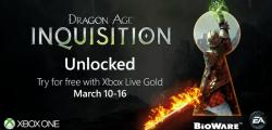 Dragon Age Inquisition, gratis para usuarios Gold en Xbox One hasta el 16 de Marzo