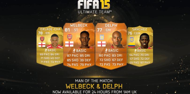 Welbeck y Delph, nuevos MOTM para FIFA 15 Ultimate Team