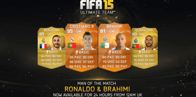 Cristiano Ronaldo y Brahimi, nuevos MOTM para FIFA 15 Ultimate Team