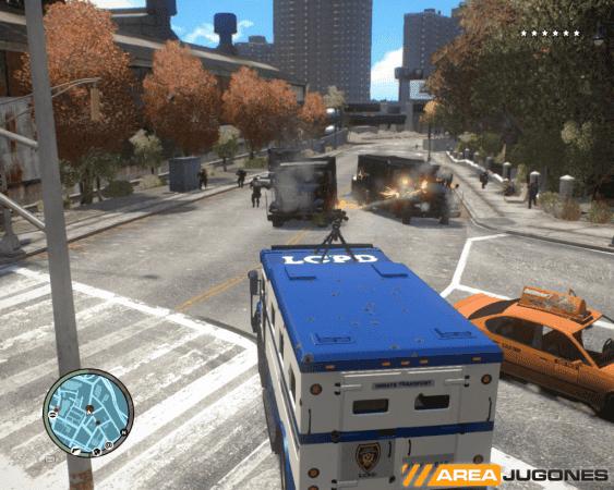 Las torretas pueden ser ancladas a vehículos.