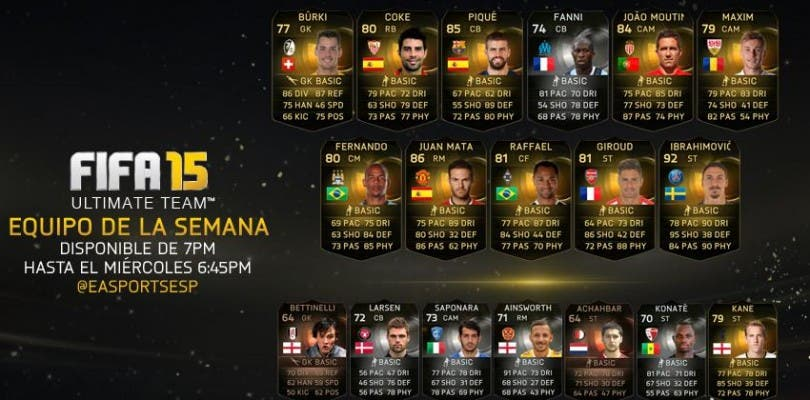 Equipo de la semana FIFA 15 Ultimate Team