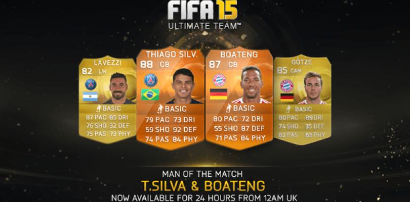 Thiago y Silva y Jerome Boateng, nuevos MOTM para FIFA 15 Ultimate Team