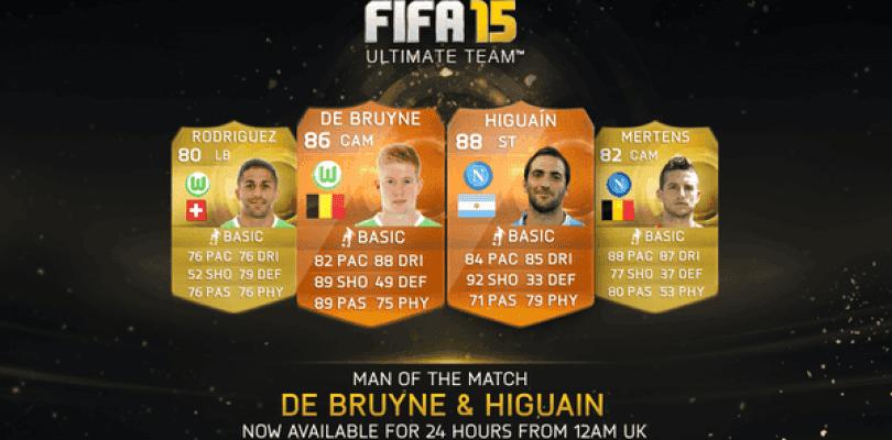 Higuaín y De Bruyne, nuevos MOTM para FIFA 15 Ultimate Team