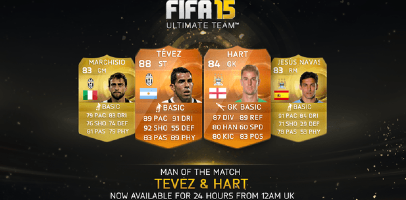 Carlos Tévez y Joe Hart, nuevos MOTM para FIFA 15 Ultimate Team