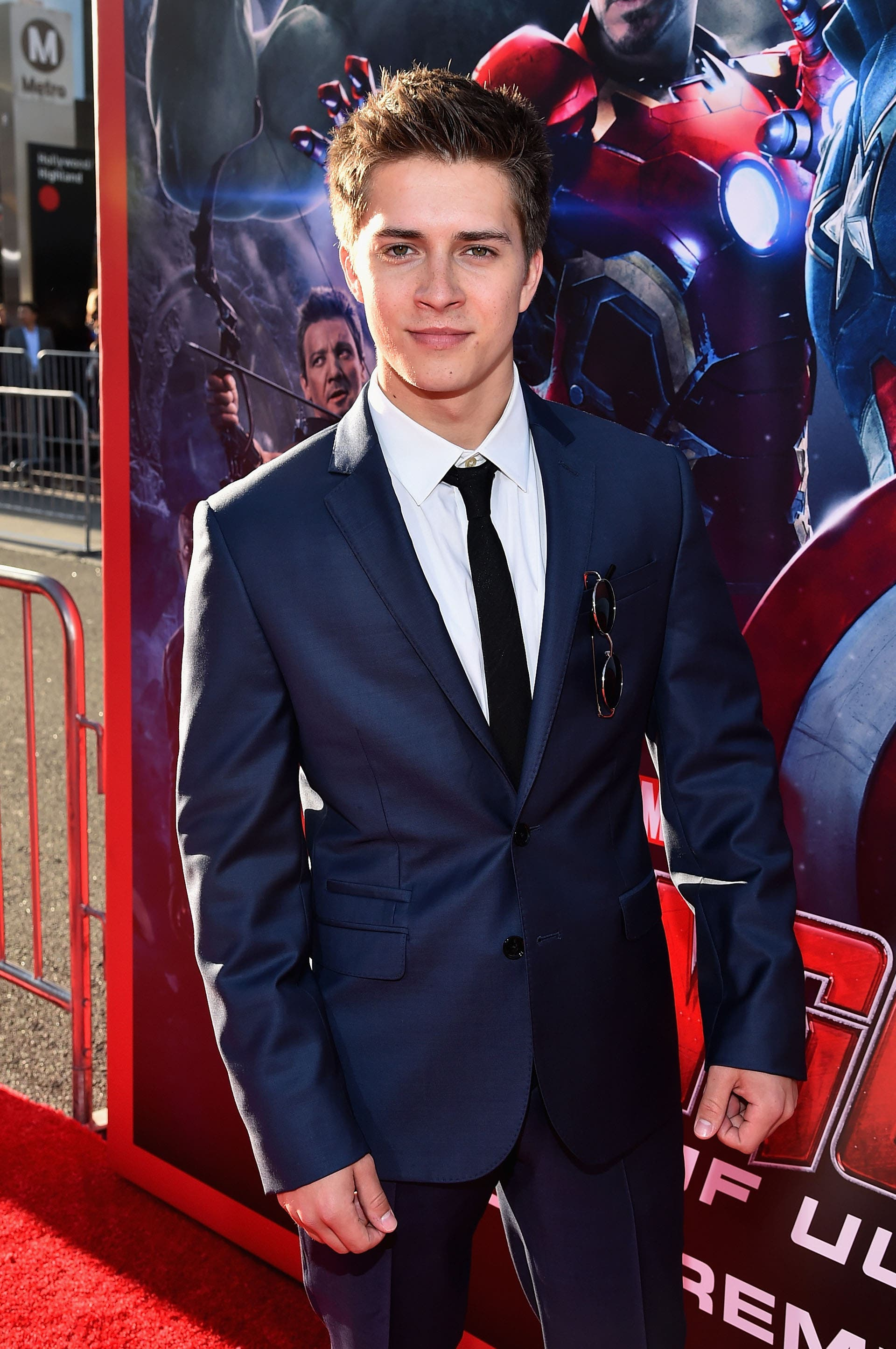 "HOLLYWOOD, CA - APRIL 13:  Actor Billy Unger attends the world premiere of Marvel's ""Avengers: Age Of Ultron"" at the Dolby Theatre on April 13, 2015 in Hollywood, California.  (Photo by Alberto E. Rodriguez/Getty Images for Disney) *** Local Caption *** Billy Unger"