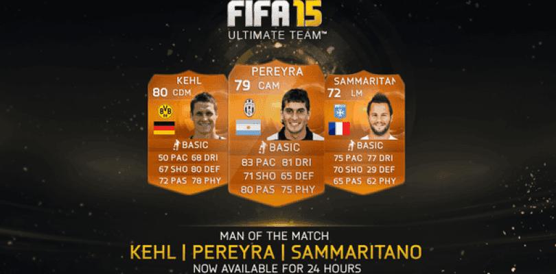 Pereyra, Kehl y Sammaritano, nuevos MOTM para FIFA 15 Ultimate Team