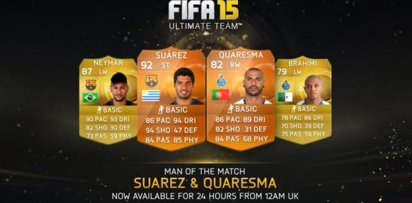 Luis Suárez y Ricardo Quaresma, nuevos MOTM para FIFA 15 Ultimate Team