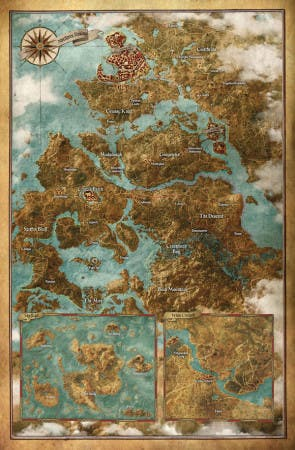 the witcher 3 mapa