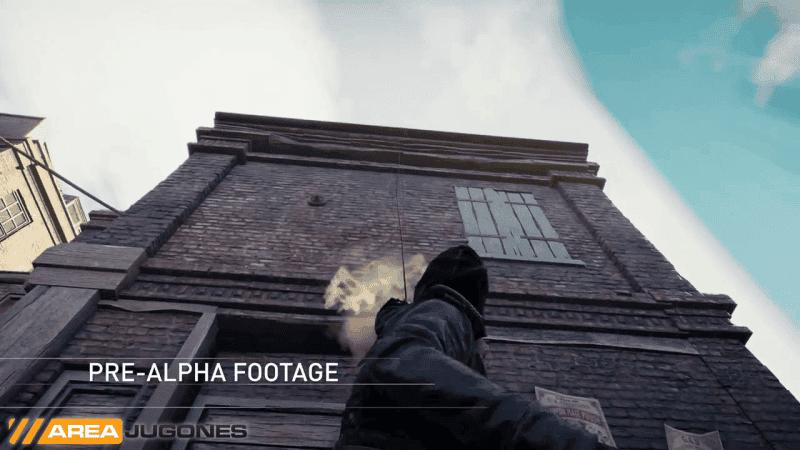 El lanzador de cuerda nos permitirá subir a los edificios rápidamente.