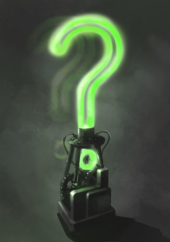 Batman Arkham Trofeo Enigma